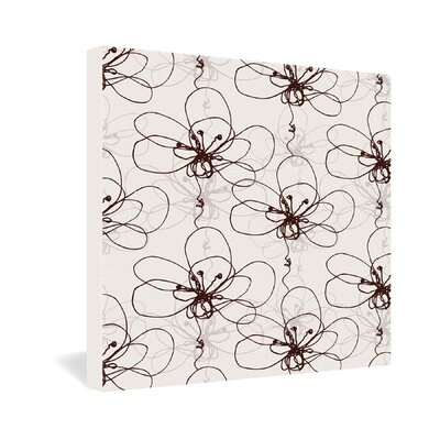 DENY Designs Rachael Taylor Tonal Floral Gallery Wrapped Canvas