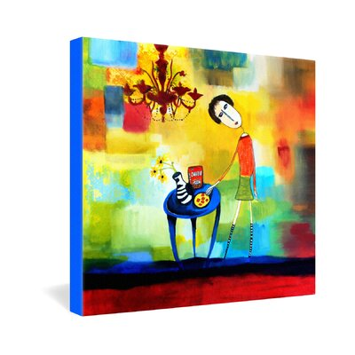 DENY Designs Cheeze It Thank You by Robin Faye Gates Painting Print on Canvas