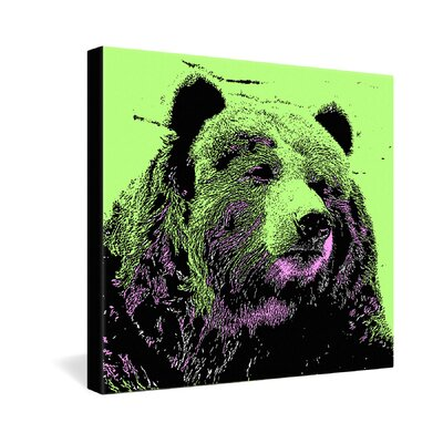DENY Designs Romi Vega Bear Gallery Wrapped Canvas