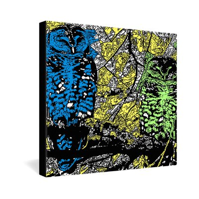 DENY Designs Romi Vega Bright Owl Gallery Wrapped Canvas