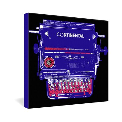 DENY Designs Continental Typewriter by Romi Vega Graphic Art on Canvas