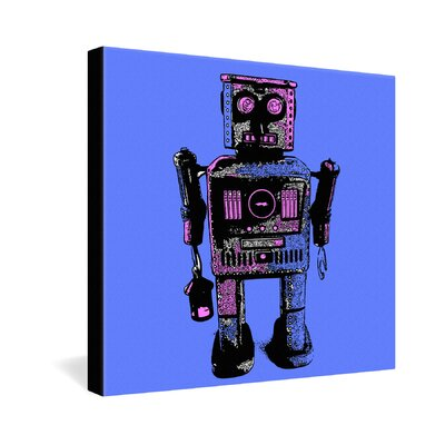 DENY Designs Romi Vega Lantern Robot Gallery Wrapped Canvas