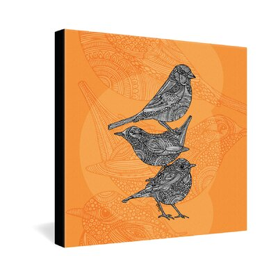 DENY Designs 3 Little Birds by Valentina Ramos Graphic Art on Canvas