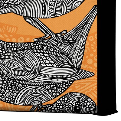 DENY Designs Valentina Ramos 3 Little Birds Gallery Wrapped Canvas