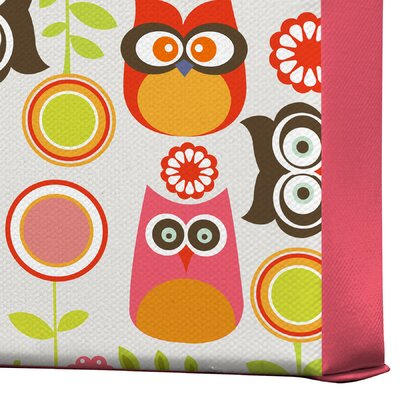 DENY Designs Cute Little Owls by Valentina Ramos Graphic Art on Canvas