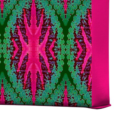 DENY Designs Ikat Leaves by Wagner Campelo Graphic Art on Canvas