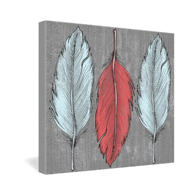 DENY Designs Feathered by Wesley Bird Graphic Art on Canvas