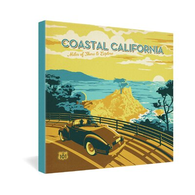 DENY Designs Coastal California by Anderson Design Group Vintage Advertisement on Canvas
