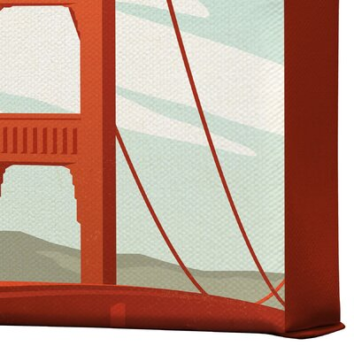 DENY Designs San Francisco by Anderson Design Group Vintage Advertisement on Canvas