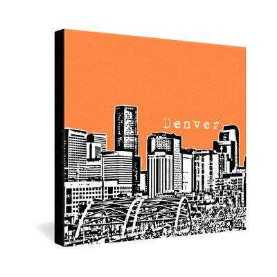 DENY Designs Bird Ave Polyester Denver Gallery Wrapped Canvas
