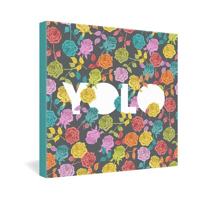DENY Designs Yolo by Bianca Green Graphic Art on Canvas