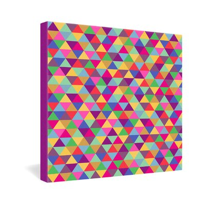 DENY Designs Bianca Green In Love With Triangles Gallery Wrapped Canvas