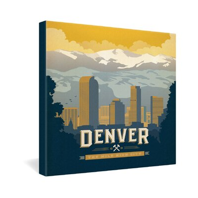 DENY Designs Anderson Design Group Denver 1 Gallery Wrapped Canvas