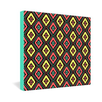 DENY Designs Zig Zag Ikat by Jacqueline Maldonado Graphic Art on Canvas