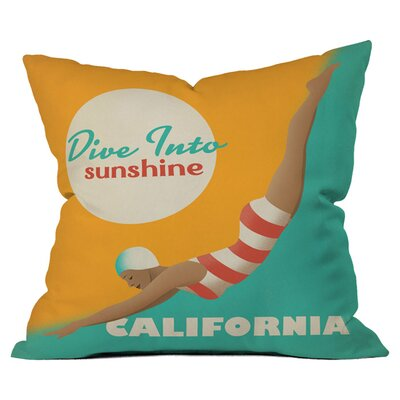 DENY Designs Anderson Design Group Dive California Woven Polyester Throw Pillow