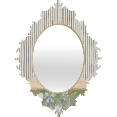 DENY Designs Cori Dantini Blue and White Stripes Baroque Mirror