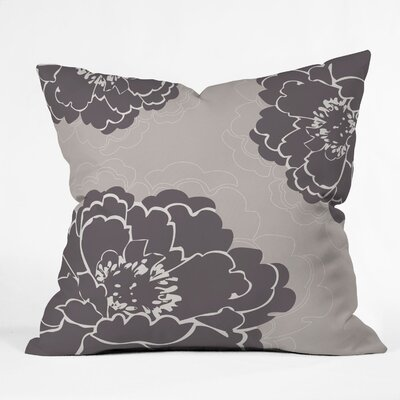 DENY Designs Caroline Okun Winter Peony Polyester Throw Pillow
