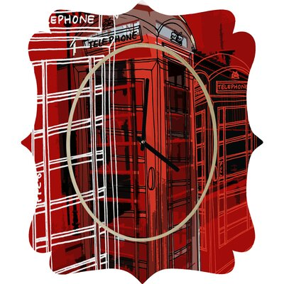 DENY Designs Aimee St Hill Phone Box Clock