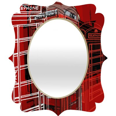 DENY Designs Aimee St Hill Phone Box Quatrefoil Mirror