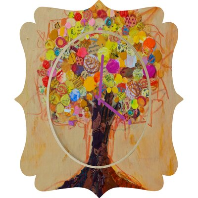 DENY Designs Elizabeth St Hilaire Nelson Summer Tree Wall Clock