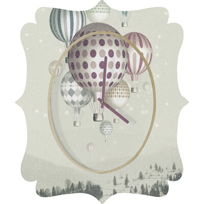 DENY Designs Belle 13 Winter Dreamflight Wall Clock