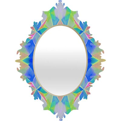 DENY Designs Amy Sia Chroma Blue Baroque Mirror
