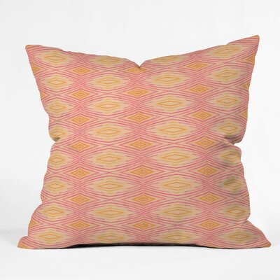 Cori Dantini Orange Ikat 4 Polyester Throw Pillow