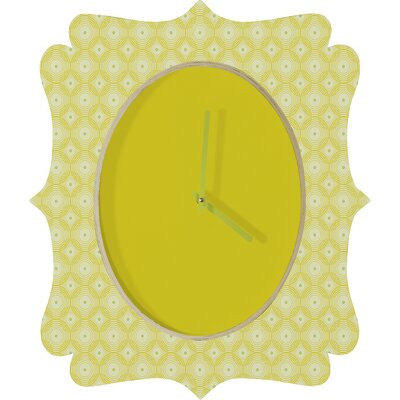 DENY Designs Caroline Okun Yellow Spirals Wall Clock