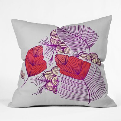 DENY Designs Gabi Sea Leaves Polyester Throw Pillow