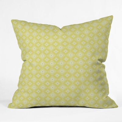 DENY Designs Caroline Okun Yellow Spirals Polyester Throw Pillow