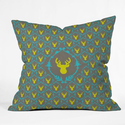 DENY Designs Bianca Green Oh Deer 3 Polyester Throw Pillow