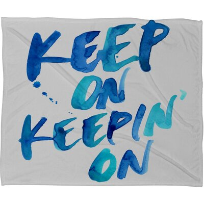 DENY Designs CMYKaren Keep on Keepin On Polyester Fleece Throw Blanket