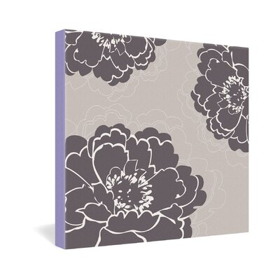 DENY Designs Winter Peony by Caroline Okun Graphic Art on Canvas