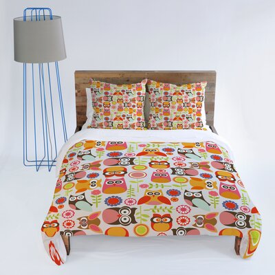 DENY Designs Valentina Ramos Cute Little Owls Duvet Cover Collection