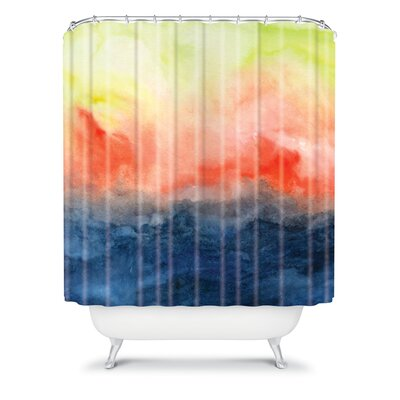 DENY Designs Jacqueline Maldonado Woven Polyester Brushfire Shower Curtain