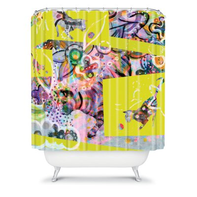 DENY Designs Randi Antonsen Polyester Cats 4 Shower Curtain