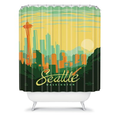 DENY Designs Anderson Design Group Woven Polyester Seattle Shower Curtain