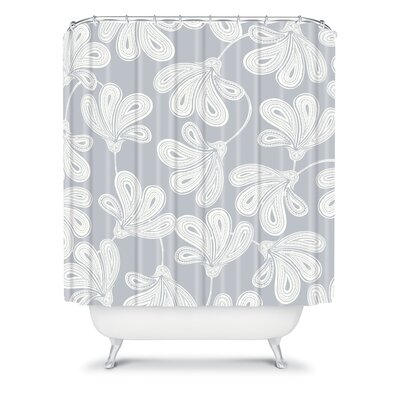 DENY Designs Khristian A Howell Woven Polyester Provencal Gray 1 Shower Curtain