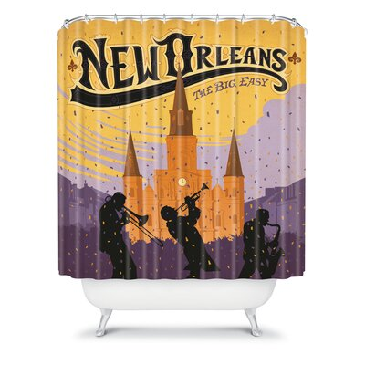 DENY Designs Anderson Design Group Woven Polyester New Orleans One Shower Curtain