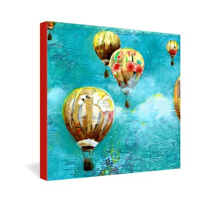 DENY Designs Land Of Lulu Herd of Balloons 2 Gallery Wrapped Canvas