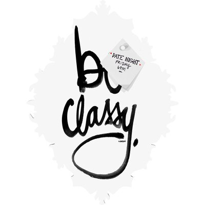 DENY Designs Kal Barteski Be Classy Baroque Magnet Board