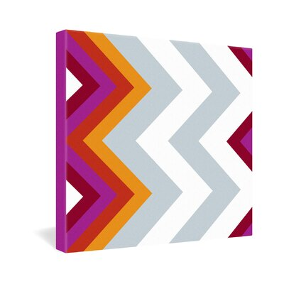 DENY Designs Karen Harris Modernity Solstice Warm Chevron Gallery Wrapped Canvas