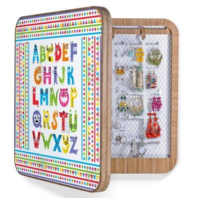 DENY Designs Andi Bird Alphabet Monsters Jewelry Box