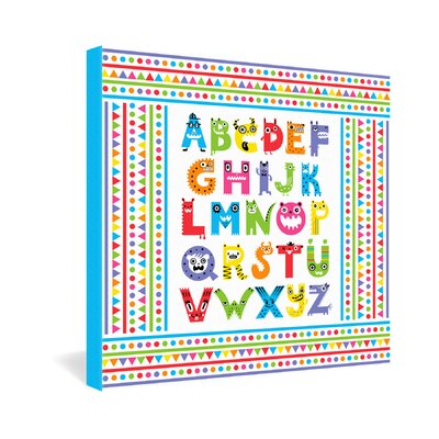 DENY Designs Alphabet Monsters by Andi Bird Canvas Art