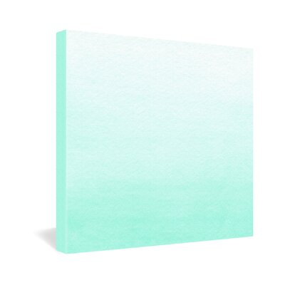 DENY Designs Social Proper Mint Ombre Canvas Wall Art