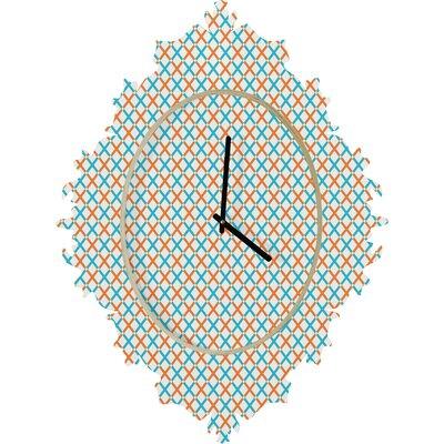 DENY Designs Tammie Bennett X Check Wall Clock