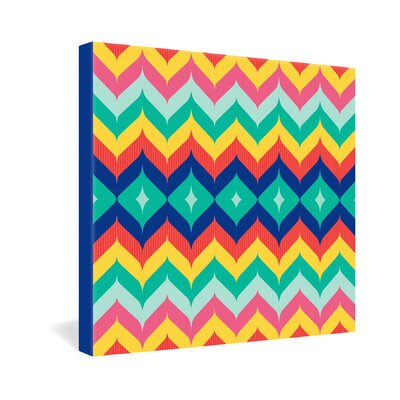 DENY Designs Chevron 5 by Juliana Curi Graphic Art on Canvas