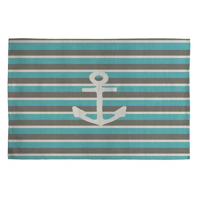DENY Designs Bianca Green Anchor 1 Novelty Rug
