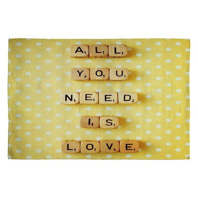 DENY Designs Happee Monkee All You Need Is Love 1 Novelty Rug