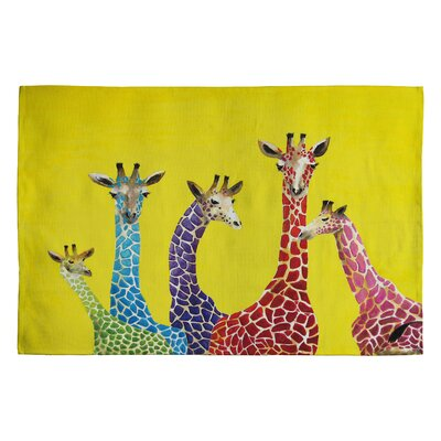 DENY Designs Clara Nilles Jellybean Giraffes Novelty Rug